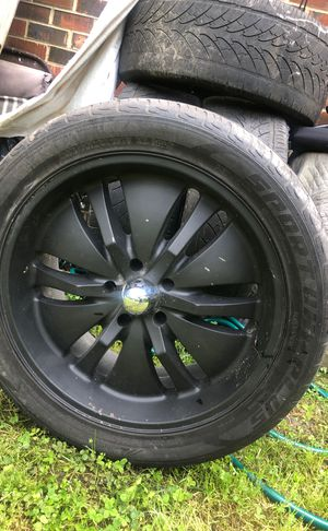 """22"""" Black Rims with Tires for Sale in Richmond, VA"""