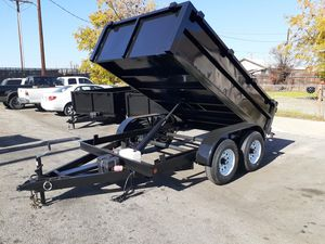 OFFICIAL !!! SKY FACTORY DIRECT ADVERTISEMENT DO NOT BUY FROM ANYONE WITHOUT TALKING TO A FACTORY REPRESENTATIVE!!!! new 8x10 x2 dump trailer for Sale in Colton, CA