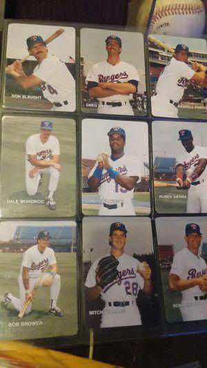 Texas rangers baseball team cards for Sale in Chandler, TX