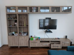 TV entertainment set, storage cabinets (TV not included) for Sale in Houston, TX