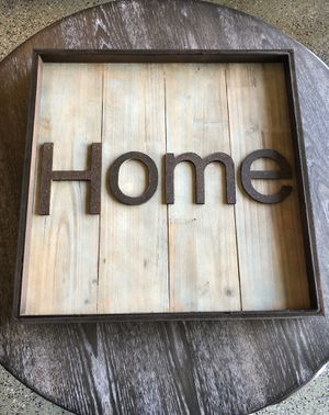 Brand New Wood and Metal Home Sign for Sale in North Las Vegas, NV