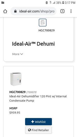 Ideal air Dehumidifier 120 Pint for Sale in Rialto, CA