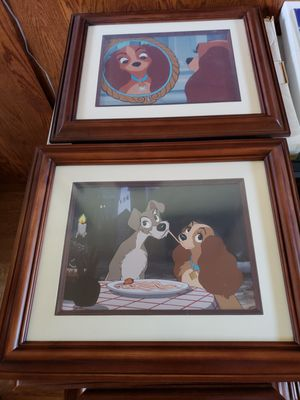 Lady and the Tramp Lithograph Framed Prints - Disney Limited Edition for Sale in Tracy, CA