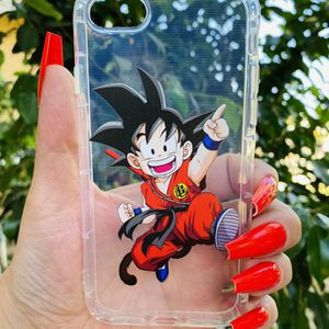 Brand new cool iphone 7, 8 or 2020 SE case cover rubber Clear transparent see through Goku dragon ball z DBZ super saiyan anime mens guys hypebeast h for Sale in San Bernardino, CA