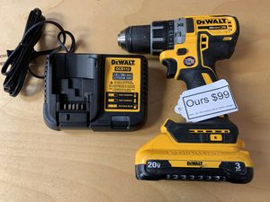 Dewalt 20v XR brushless drill + 3.0AH bat & charger for Sale in Waltham, MA