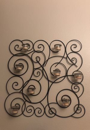 Black metal tea light candle wall sconce for Sale in Monrovia, CA
