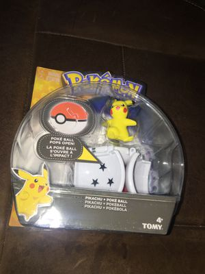 Pokemon Pikachu + Poke Ball for Sale in San Antonio, TX