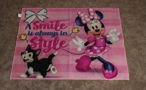 Disney Minnie mouse pink girl's/ children's rectangular rug for Sale in Mesa, AZ