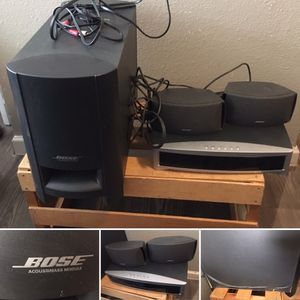 A BOSE AV 321 ii SERIES SOUND SYSTEM *MISSING REMOTE AND MODULE CORD* for Sale in Dallas, TX