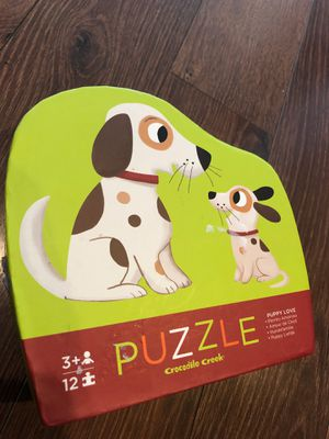 Like new Puppy Love puzzle by crocodile creek - 12 pieces - preschool , homeschool. for Sale in AZ, US