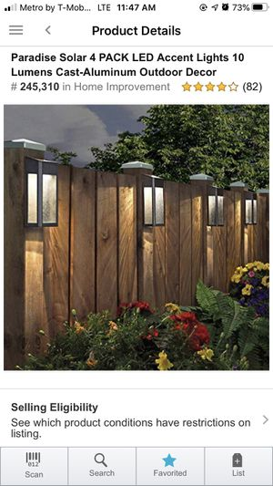 Solar LED Accent Light 4 Pack for Sale in Ellicott City, MD
