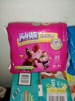 Huggies pull-ups s/3-4T 22ct 10$ each for Sale in Fresno, CA