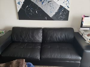 Black Leather sofa , couch for Sale in Dublin, OH