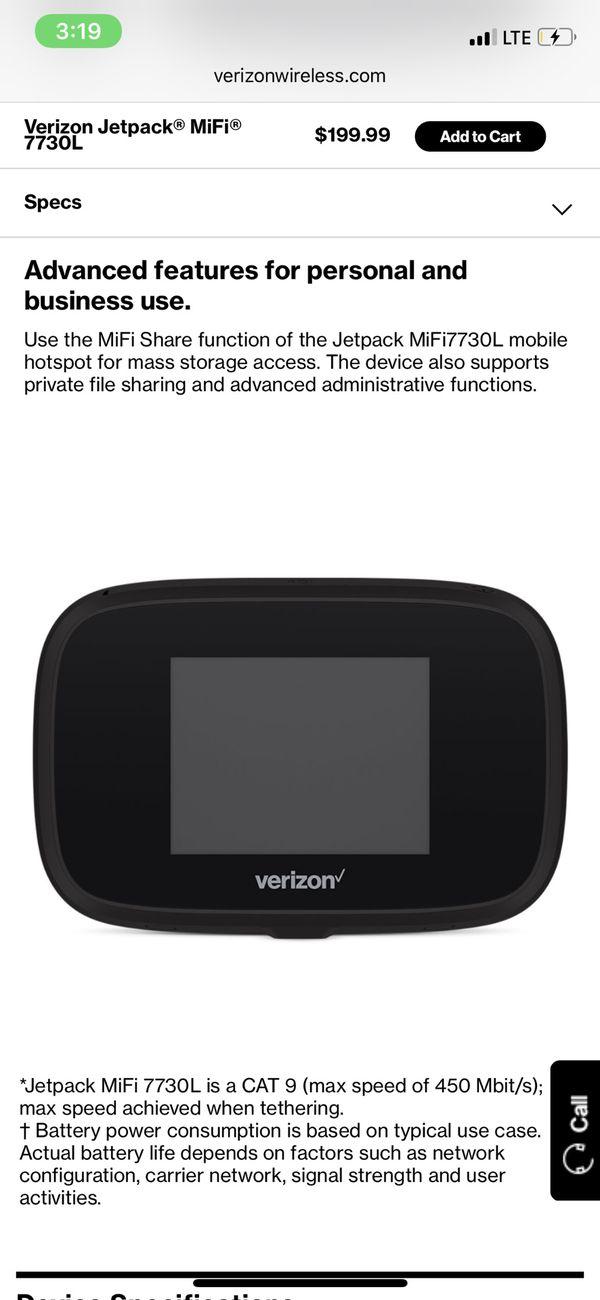 Verizon Mobile WIFi Jetpack® MiFi® 7730L No Contract needed! for Sale in  Santa Monica, CA - OfferUp