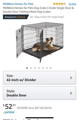 Large dog crate with blackout cover for Sale in Chicago, IL