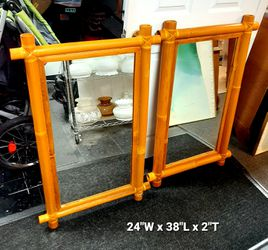 Pair of Bamboo Mirrors / Wall Mirror for Sale in Hudson,  NH