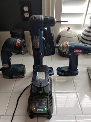 Ryobi Angle Drill Impact Drill Flashlight Charger for Sale in Chino Hills, CA