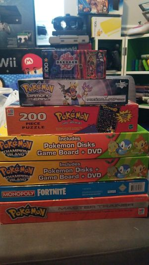 Random pokemon games and puzzles for Sale in Homestead, FL