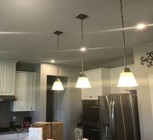 Set of 3 Pendant Lights for Sale in Fishers, IN