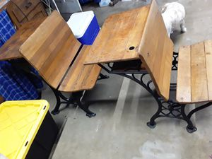 2 antique school desk both for 40 for Sale in San Diego, CA