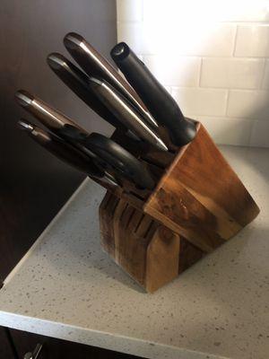 Wusthof Epicure 7-piece Knife Set with wooden block, sharpener, scissor etc. for Sale in Boca Raton, FL