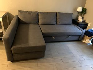 Sofa turns into queen size bed with storage for Sale in Dallas, TX