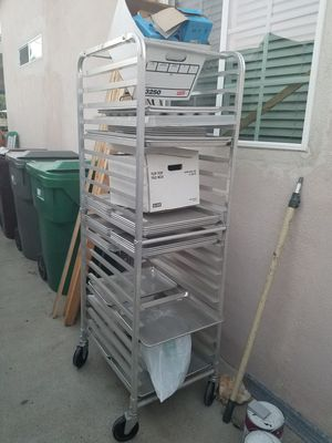 Bakers rack with trays for Sale in Fountain Valley, CA