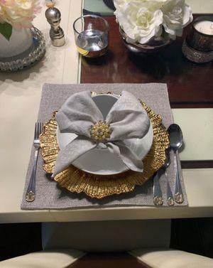 Elegant Dip-in-Gold Silverware Set - 24 Pcs! for Sale in Walkersville, MD