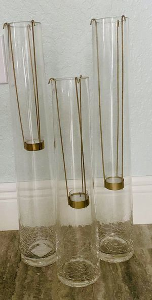 Glass candle holder for Sale in Homestead, FL