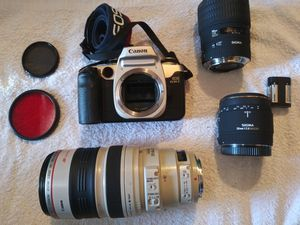 Canon cam-lense,sigma lenses for Sale in Sacramento, CA