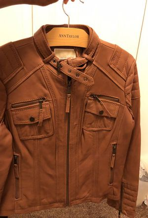 Michael Kors Brown Leather Jacket for Sale in Washington, DC