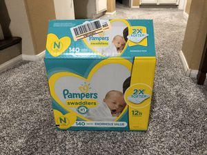Pampers Swaddlers Newborn Diapers for Sale in Moreno Valley, CA