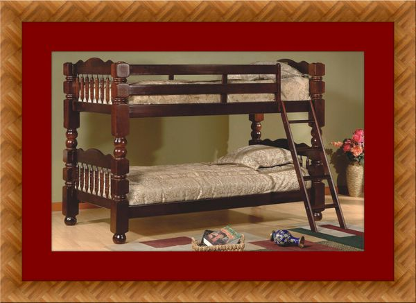 Twin wooden bunk bed frame free delivery