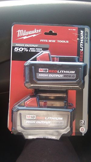Milwaukee 2pack M18 HighOutPut XC6.0 Battery's Brand New for Sale in Cleveland, OH