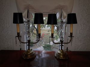 Antique c.1920 double branch candelabra lamps for Sale in Riverside, IL