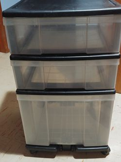 """3 Drawer Plastic Storage Cart 15-1/2"""" x 16"""" X 27"""" for Sale in Tacoma,  WA"""