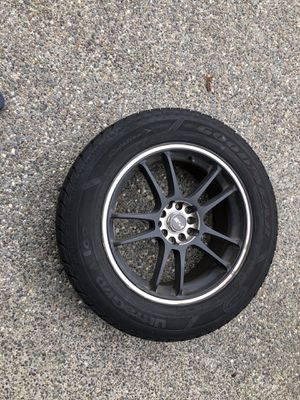 Set of 4 tires with rims in very good condition Size 225/60R17 for Sale in Mercer Island, WA