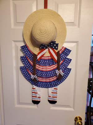 Americana girl 👧 Wreath for Sale in Lancaster, OH