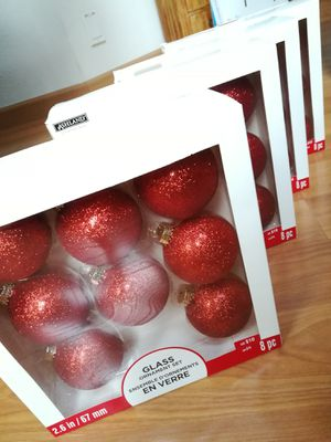 Red Glitter Glass Ornaments Lot for Sale in Sunnyvale, CA