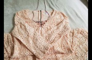 PRETTY PINK DRESS SZ SMALL WITH PINK LACE for Sale in Silver Spring, MD