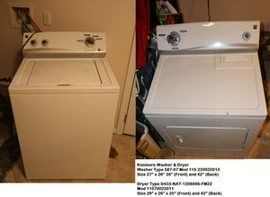 Kenmore washer and dryer for Sale in Jersey City, NJ