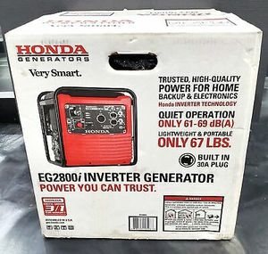 New Honda 2800-Watt Recoil Start Portable Gasoline Powered Inverter Generator with Eco-Throttle and Oil Alert for Sale in Renton, WA
