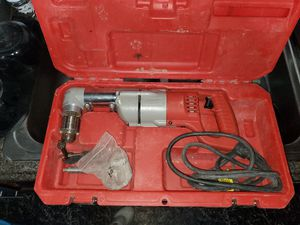 Milwaukee 7 Amp Corded 1/2 in. Corded Right-Angle Drill Kit with Hard Case for Sale in Independence, MO
