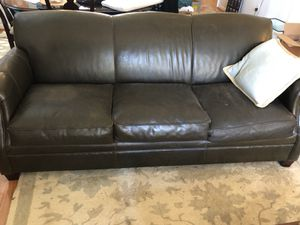 Brown leather couches for Sale in Charlottesville, VA