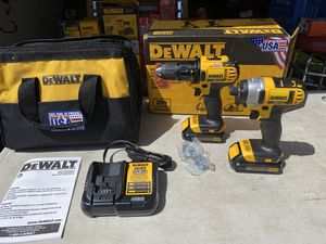 Dewalt 20v Drill Driver & Impact Driver Combo Kit USA NEW for Sale in Ontario, CA