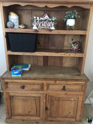 Antique Hutch (Solid Pine) for Sale in Anaheim, CA
