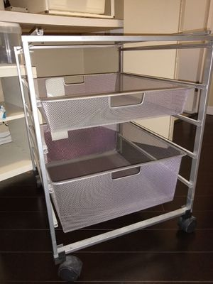 Rolling file cabinet and wire drawers for Sale in Chicago, IL