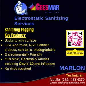 Electrostatic Sanitization services for Sale in Lauderdale Lakes, FL