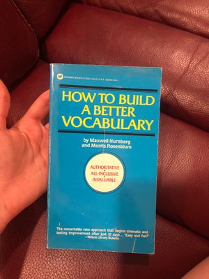 How to Build a better vocabulary book for Sale in Oak Lawn, IL