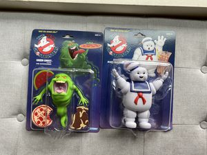 Real Ghostbusters 2020 Slimer & Stay Puft Marshmallow Man Action Figure Lot MOC for Sale in Bellevue, WA